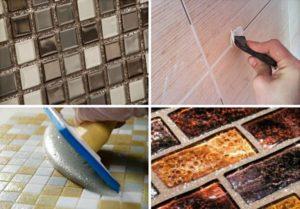 Разновидности затирок для плитки и технология нанесения