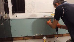 Экран под ванну своими руками – установка без привлечения специалистов