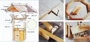 Декоративный колодец на даче своими руками – схемы создания с пошаговой инструкцией