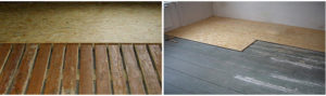 Укладка ОСБ панелей на деревянные полы