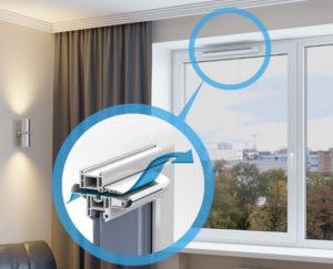 Приточный клапан на пластиковые окна – процесс установки в квартире своими руками