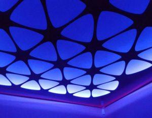 Перфорированные натяжные и подвесные потолки с подсветкой