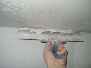 Штукатурка и шпаклевка гипсокартонного потолка своими руками