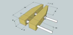 Струбцина своими руками – как сделать быстрозажимное приспособление из металла и дерева