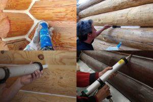 Как выбрать герметик для швов в деревянном доме