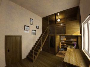 Второй этаж в комнате с высокими потолками – как обустроить самостоятельно