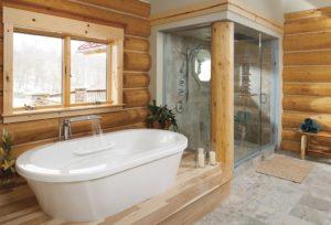 Пол ванной комнаты в деревянном доме