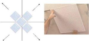 Как правильно клеить пенопластовую потолочную плитку и разные способы укладки