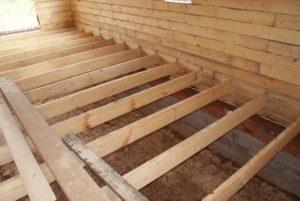 Виды и устройство полов в деревянном доме