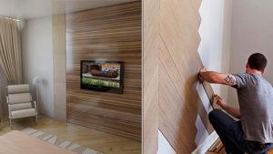 Ламинат на стене – оправдано ли такое использование материала?