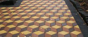 Производство тротуарной 3Д плитки и преимущества покрытия