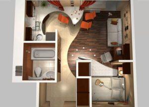 Перепланировка хрущёвки – как сделать уютной неудобную квартиру?