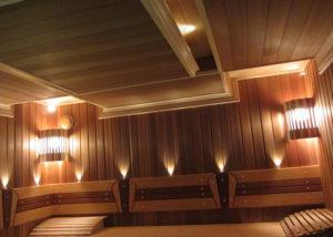 Освещение в бане – безопасное и красивое исполнение