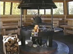 Беседка с мангалом – мясо на огне в любое время года