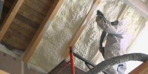 Технология напыления и стоимость утепления потолка пенополиуретановой пеной