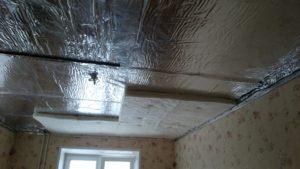 Как сделать шумоизоляцию в квартире под натяжной потолок