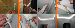 Светодиодная лента для потолка – монтаж и подключение своими руками