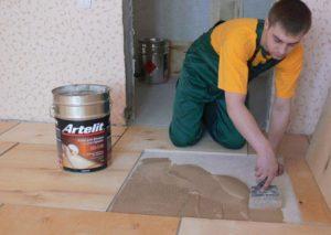 Виды клея для укладки фанеры на бетонный пол
