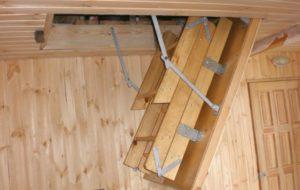 Делаем сами складную лестницу на чердак с люком