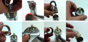 Замена картриджа в смесителе – инструкция для разных видов клапанов