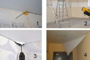 Как снять натяжной потолок своими руками – получится или нет?