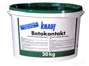 Грунтовка Бетоноконтакт Кнауф – качественный состав высочайшего класса