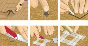 Как заделать дырку в линолеуме и советы по ремонту других повреждений