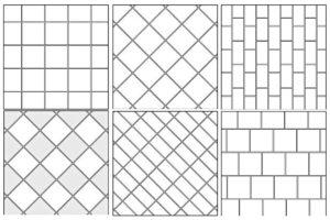 Способы раскладки плитки на полу: диагональ, смещение и елочка