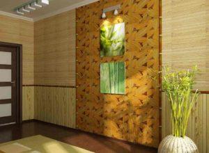 Бамбуковые обои на стенах – как поклеить натуральную отделку и облагородить интерьер?
