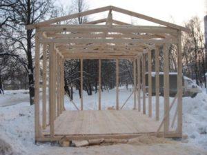 Каркасный гараж из дерева – надежная постройка своими руками