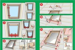 Установка мансардных окон — разновидности и правила монтажа