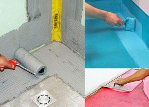 Виды гидроизоляции пола в ванной комнате под плитку: характеристики и стоимость работ