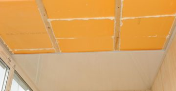 Утепление потолка на балконе и лоджии изнутри своими руками