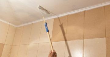 Чем и как красить потолок в ванной комнате своими руками