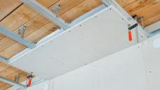 Как обшить потолок гипсокартоном в деревянном доме и способы крепления
