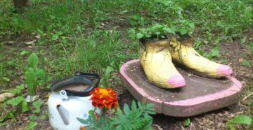 Садовые фигуры своими руками – дачные забавы из подручных материалов
