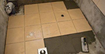 Укладка плитки на пол в ванной и туалете: нюансы и правила облицовки