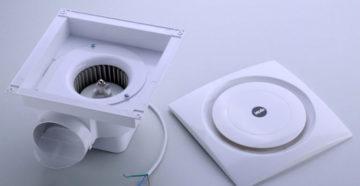 Потолочный вытяжной вентилятор для туалета и ванной комнаты