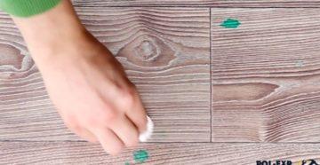 Чем можно отмыть зеленку с линолеума: обзор эффективных методов