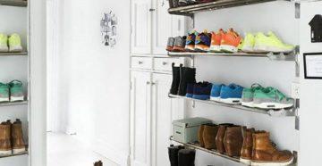 Полки для обуви – идеи для узкой и широкой прихожей
