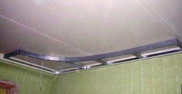 Как сделать потолок из гипсокартона с подсветкой своими руками на кухне
