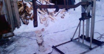 Пружинный механический колун для дров – самостоятельное изготовление оборудования по чертежам