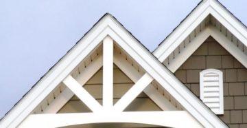 Фронтон крыши – как сделать экстерьер дома красивым и завершенным?