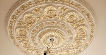 Потолочная розетка для люстры и идеи декора своими руками