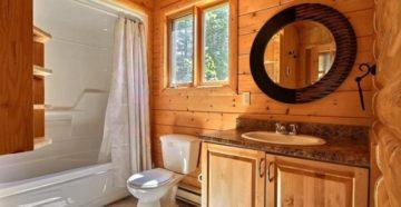 Ванная комната в деревянном доме – без проблем при правильном подходе
