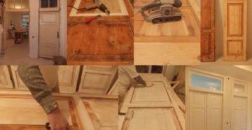 Реставрация дверей – готовим полотно и выбираем облицовочный материал