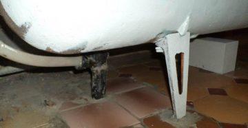 Как соорудить ножки для ванны своими силами?
