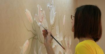 Роспись стен в квартире — мастер-класс для новичков