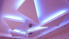 Потолок с подсветкой из гипсокартона – парящее небо над головой своими руками