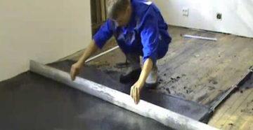 Стяжка на деревянный пол. Технология заливки